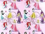 Disneystoff Princess-Mix, Meterware ab 0,5 m / Top-Qualität / Öko-Tex-100 / 100% Baumwolle