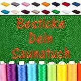 EllaTex Besticken Sie Handtuch mit Namen oder mit Wunschtext Bestickt, Farbe:Brombeere; Größe:Saunatuch XXL 100x200 cm