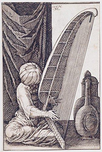 Das Museum Outlet–celeia Melchior–Turk Spielen Eine Harfe–Leinwanddruck Online kaufen (101,6x 127cm)