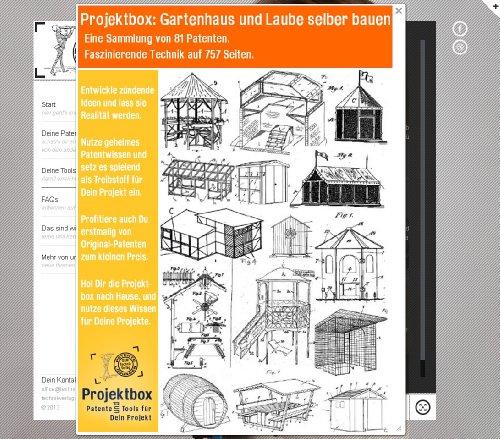 Gartenhaus und Laube selber bauen: Deine Projektbox inkl. 757 Seiten Original-Patente bringt Dich...