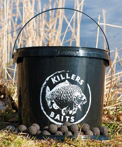 Carp Killers Boilies Black Hash 3,5kg Eimer, Karpfenköder, Angelköder zum Karpfenangeln, Fischköder für Karpfen, Karpfenboilies, Killers Baits, Durchmesser:24mm