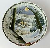 Rosenthal Weihnachtsteller 1994 Motiv 1 'Weihnachten auf dem Lande' limitiert