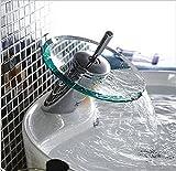 BBO Heiß und kalt, runden Glas wasserfall führenden / Kupfer, das auf der toilette