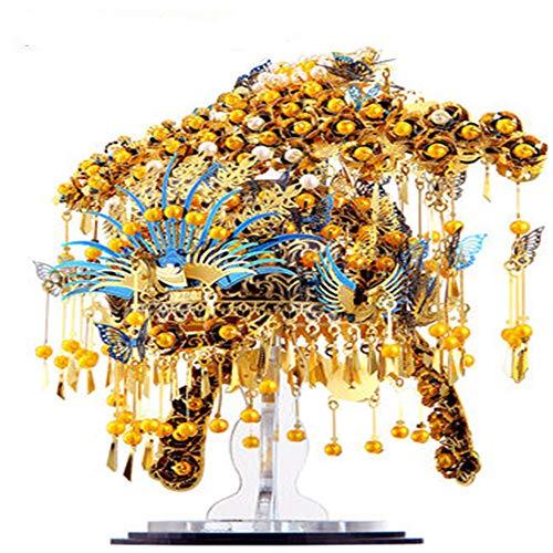 Phoenix Krone Metall Puzzle Montage Modell 3D Stereo handgemachte DIY kreative Geburtstag zu senden geliebte/weibliche Geschenke Gold + Werkzeug A One Size