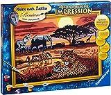 Ravensburger 28819 - Afrikanische Impression, Malen nach Zahlen Premium, 40 x 30 cm
