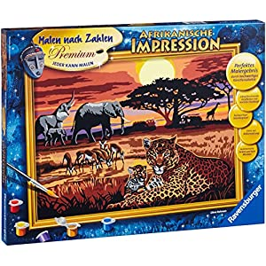"Ravensburger 28819 9 ""African Impression Paint by Numbers Kit"