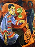 The Drinker, Self-Portrait - By Ernst Ludwig Kirchner - Leinwanddrucke 20x27 Inch Ungerahmt