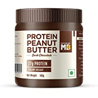 MuscleBlaze High Protein Dark Chocolate Peanut Butter, 27% Protein, Creamy, 340 g