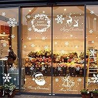 Begleri 139 Fensterbilder für Weihnachten,Schneeflocken mit Fensterdeko -Statisch Haftende PVC Aufklebe
