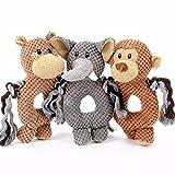 Handgemachtes Hundespielzeug - Kauspielzeug - Kuscheltier - Spielzeug für Hunde - HANDGEMACHT - Quietschend (Braun)