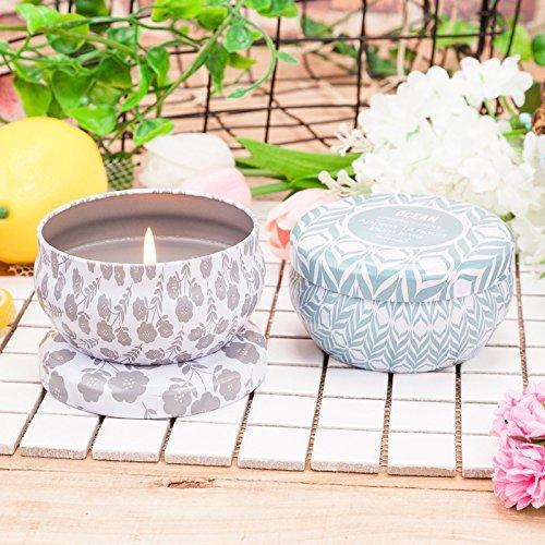 Asien Velas aromáticas, Velas con árbol de Té, Menta perfumada, 100% Cera de Soja Vela para el Estrés