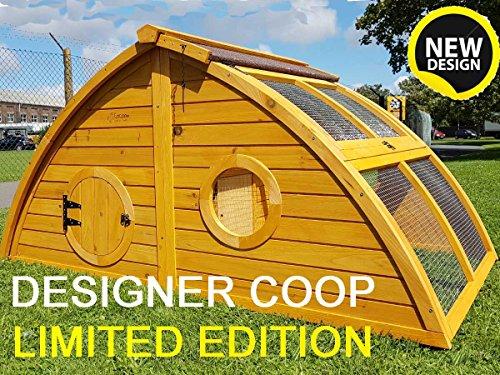 Hühnerstall Hühnerhaus Cocoon Hühnerstall sehr gross für 6 Vögel oder 10 Wachteln, abnehmbares Dach für einfachere Reinigung, mit Lüftungslöchern, mit stabilem Nistkasten, grosser Lebensraum und 210cm Lang inklusive Nistkasten - mehr als 130cm hoch