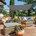 Aktive Sonnensegel für Garten, Polyester, 3x 4m, Anthrazit (COLORBABY 53914) von ColorBaby - Gartenmöbel von Du und Dein Garten