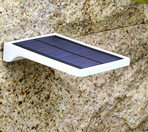 LED Solarleuchte Solarbetriebene Gartenleuchte Energie sparende Solarlampe Weiß Wandlampe Wandleuchte Wasserdicht Außenleuchte IP65 Bodeneinbauleuchte für Outdoor Garten (Kurz)