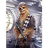 Star Wars Decke Chewbacca 130 x 170 cm Flanelldecke Fleecedecke Kuscheldecke z. Bettwäsche Starwars Disney Clone Stormtrooper Darth Vader Luke Skywalker Han Solo Prinzessin Lea Rey BB8 R2D2 Kylo Ren
