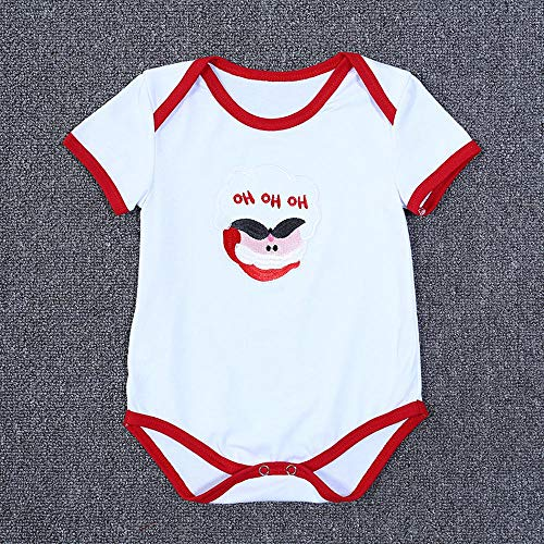 Lafe Kinderkleidung Unisex Baby Sommerkleidung Weihnachtsbaum Santa Claus Muster kurzen Ärmeln Einteilige Kleidung E-S