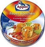 Appel Feuer-Röllchen, aus zerkleinerten Heringsfilets in scharfer Schaschlik-Sauce, MSC zertifiziert, 200 g