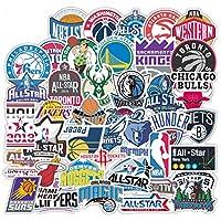 50pack NBA Team StickerAll Teams Logo Collection Stickers.All-Star Logo Waterproof VinylSticker Basketball Team Logo Graffiti Decalsfor Teens Girls Boys Adults (NBA Team)