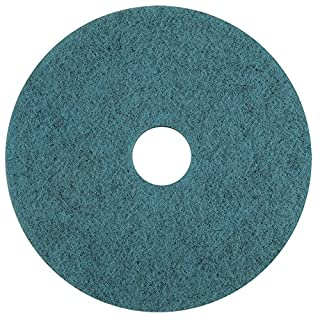 Americo Manufacturing 403315 Natural Blue Blend High Speed Natural Fiber Burnishing Floor Pad (5 Pack), 15