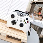 Xbox One S Controller Case for Airpods Pro, 3D Cartoon Xbox One x Controller Silicone Funny Airpods Pro Cover, Cool Keychain