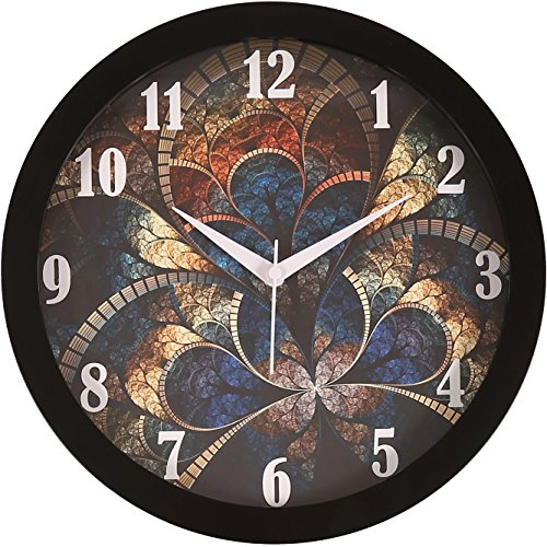 IT2M 11.75 Inches Designer Round Wall Clock With Glass For Home /...