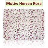 Gasas Impreso 5Pack multicolor para Vómitos paños pañales de tela 70x 80algodón nuevo (5x Corazones Color Rosa)
