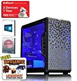 ADMI High Performance Gaming PC: Powerful AMD Ryzen 5 1600 6 Core/12 Thread 3.6GHz CPU, Asus A320M-K, Nvidia GTX 1060 3GB Graphics Card, 8GB 2400MHz DDR4, Seagate 1TB Hard Drive