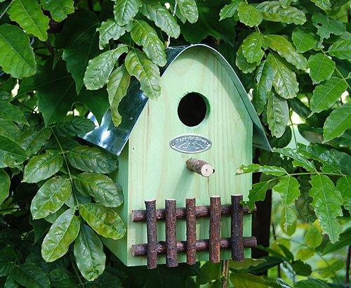 Buntes Vogelhaus Nistkasten Holz Grün 21cm - 2