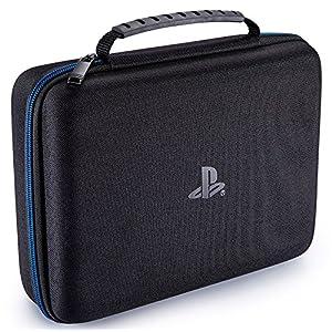 PS4 Controller Case [Offiziell lizenziert] Tasche zur Aufbewahrung von 2 Controllern