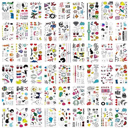 Schablonen-Set aus Kunststoff, Vorlage zur Gestaltung von Journalen, Notizbüchern, Tagebüchern, Stundenplänen, Zeichnungen, für Scrapbooking und zum Basteln, 10,2 x 17,8 cm, 12 Stück Kids Tattoos