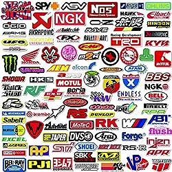 Q-Window Auto und Moto Modifizierte Marke Logo Series Aufkleber Pack (103 pcs) Vinyl Sticker für Laptop, Auto, Moto, Skateboard, Fahrrad, Gepäck, iPhone - Graffiti Decal-Wasserdicht