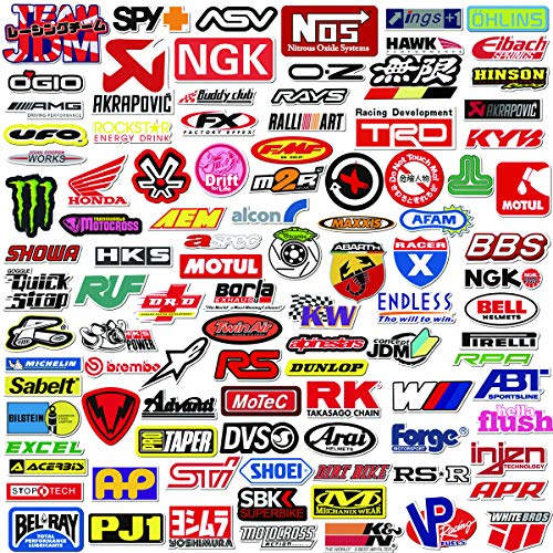 Q-Window Auto e Moto Logo Modificato Serie Sticker Pack (103 PCS) Vinile Adesivi   per Laptop, Auto, Moto, Skateboard, Bici, Bagagli, iPhone - Graffiti Adesivi per Famiglia, Amici-Impermeab