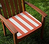 Lushomes Red Wood Square Striped Chairpa...