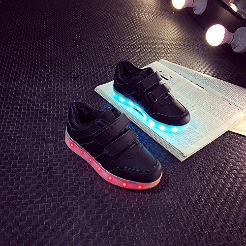 (Present:kleines Handtuch)JUNGLEST Damen Hohe Sneaker Weiß USB Aufladen LED Leuchtend Fasching Partyschuhe Sportsc c8