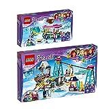 LEGO City Set en 2 parties 41319 41324 Le Marchand de Chocolat Chaud de la Station de Ski + La station de ski...