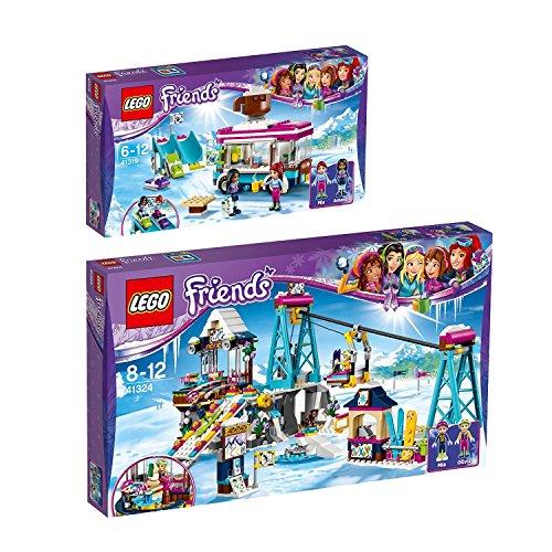 Preisvergleich Produktbild Lego Friends 2er Set 41319 41324 Kakaowagen am Wintersportort + Skilift im Wintersportort