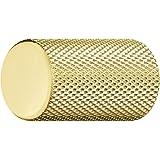 Gedotec Meubelgreep messing gepolijst - aluminium meubelknop vintage kastknop geribbeld - KING | deurgreep meubel-kastdeur |