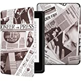 MoKo Kindle Paperwhite Case, Premium Thinnest and Lightest Leather Cover with Auto Wake / Sleep for Amazon All-New Kindle Paperwhite (Fits All 2012, 2013 and 2015 Versions), Newspaper COFFEE
