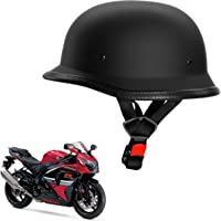 Kandid German Retro Style Matte Bike Motorbike Helmets for Tvs Sport (Black)