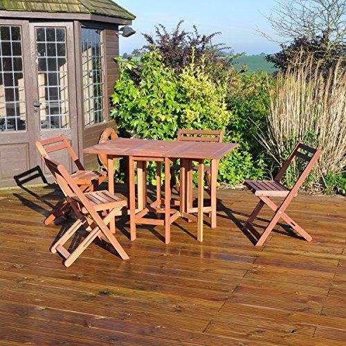 forestfox-hardwood-garden-furniture-folding-table-5-piece-set-rectangular-patio-dining