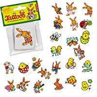 Lutz Mauder 47316 Easter Bunny & Easter/24 Tattoos stickers Tattoo Kids Tattoo Meister Lampe Easter Egg