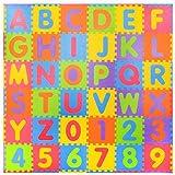 36 piezas Números suaves y Alfabeto Alfombras de juego con bordes