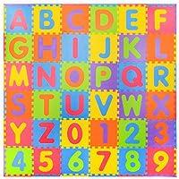 36 piezas Números suaves y Alfabeto Alfombras de juego con bordes - Alfombrilla de espuma para niños - Puzzle de actividad Alfombrillas de juego - Protección de piso - Números de goma espuma EVA Alfombrillas Mat - 0-9 y Alfabeto A-Z = 36 Azulejos en total - Peluches y Puzzles precios baratos