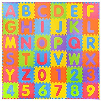 Assemblemat 174 36 Piece Soft Numbers And Alphabet Play