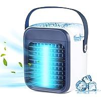 Climatiseur portables Airistech Refroidisseur d'air évapora tif, ventilateur de bureau rechargeable avec humidificateur…