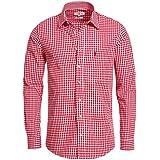 Trachtenhemd Slimline in rot von Almsach