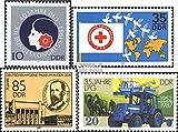 Prophila Collection DDR 3079,3088,3089,3090 (kompl.Ausg.) 1987 DFD, Rotes Kreuz, Hygiene, LPG (Briefmarken für Sammler) Straßenverkehr