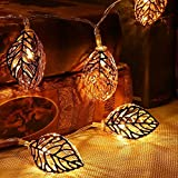 My Party Suppliers 3D Leaf Shape Metal LED String For Wedding Garden Diwali Christmas Festivals Decoration / Diwali Decoration Lights / New Year Fairy Decoration Strip Light / Christmas Lights Festival Lights / Festival String Light / Latest Festival Ligh