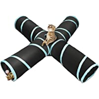 Pets Empire Cat Tunnel Pet Toy Tunnel 4 Way Collapsible Cat Tube Crinkle Pop Up Tunnel Set Pet Toys