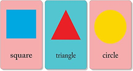 Paper Plane Design Shapes Educational Flash Cards Laminated 3.5 inch x 5.5 inch Waterproof